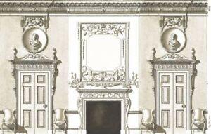 Dollhouse Wallpaper Art Panel White Background 648260916732 Ebay