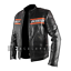 Bill-Goldberg-WWE-Wrestler-Harley-Davidson-Black-Biker-Real-Leather-Jacket thumbnail 3