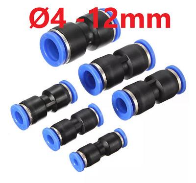 Pneumatik Steckverbinder Schlauchverbinder Druckluftverbinder gerade 4-12mm