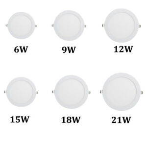 LED-Recessed-Panel-Ceiling-Light-Lamp-Cool-Warm-White-Home-Acrylic-Round-Modern
