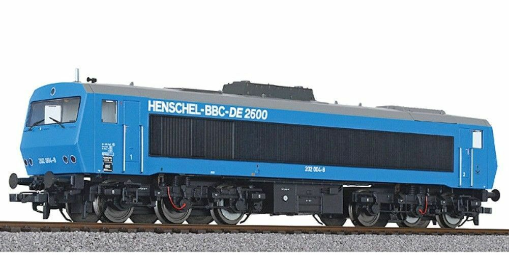 Liliput 132052 Diesel Locomotive Henschel-BBC de 2500 bluee BR 202 004-8 Ep. IV