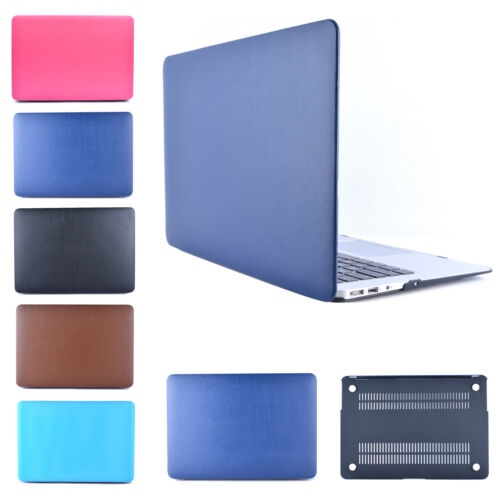 "PU Leather Hard Cover Case for Apple MacBook Air 11//13 Pro 13//15 Retina 12/"" inch"