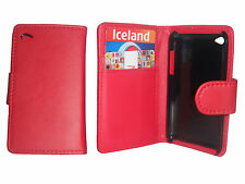 RED FLIP LEATHER WALLET CASE CARD HOLDER COVER FOR APPLE IPOD TOUCH 4 4TH GEN