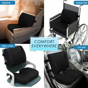 Memory Foam Orthopedic Seat Chair Cushion Car Seat Set Slow Rebound Fix Posture