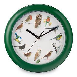 Chantant-Oiseaux-Horloge-Murale-12-Chansons-pour-Chaque-Heure-Analogue-Neuf