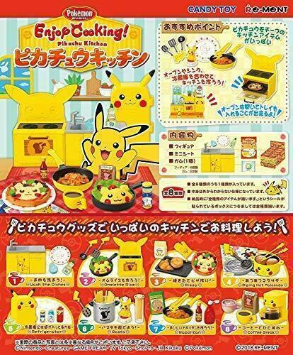 Pikachu Küche 1 Verpackung 8 Zahlen Set Japan Kochen Re-ment Pokemon Genießen