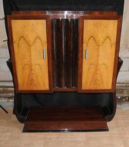 Image Is Loading Art Deco Vintage Cabinet Chest TV Cabinets Furniture