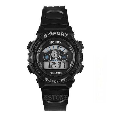 Waterproof Boy's Kids Digital LED Quartz Stopwatch Date Alarm Sports Wrist Watch