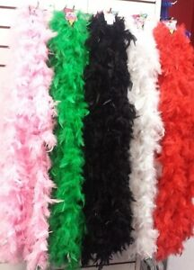 Feather-Boas-6-039-long-Assorted-Colors-for-Dress-up-Bachelorette-School-spirit