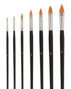 7-TORAY-Katzenzungen-Pinsel-Markenset-von-Repino-fuer-Acrylfarbe-Aquarellfarbe