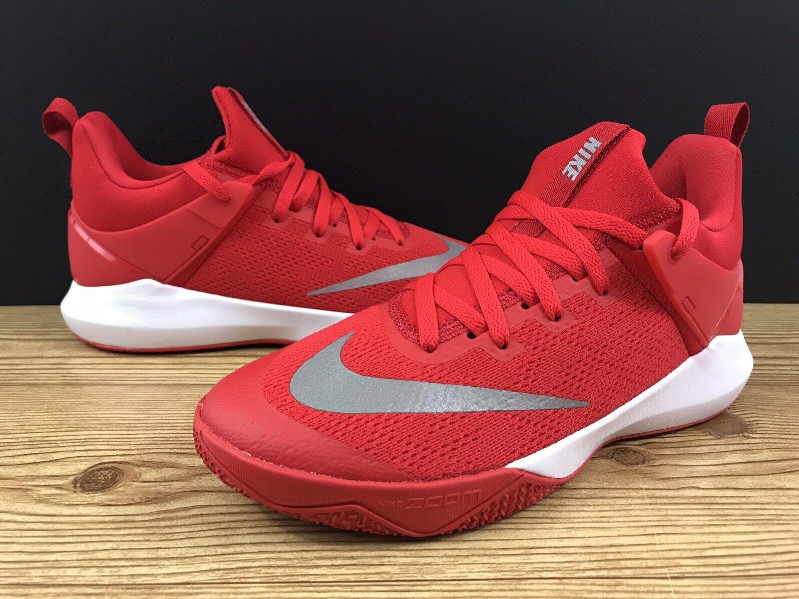 Nike Zoom Shift TB 897811-600 University Red White Men's Basketball shoes Sz 10