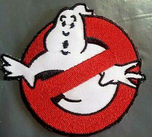 GhostBusters-No-Ghost-Cartoon-Iron-On-Sew-On-Embroidered-Patch-Badge-Logo