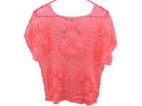 Maurices Bright Open Crochet Dolman Sleeve Top (5 Colors Available)