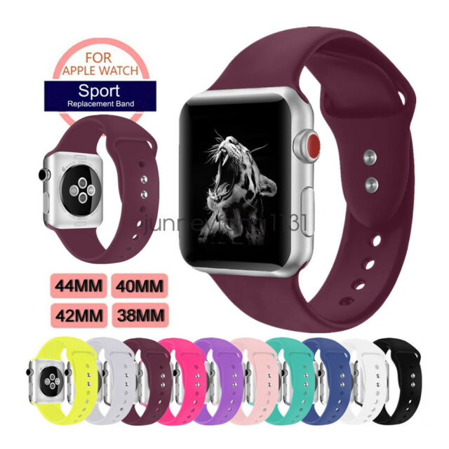 Soft Silicon Sport Wristband For Apple Watch Band Strap Series5  4 3 40/44mm 42