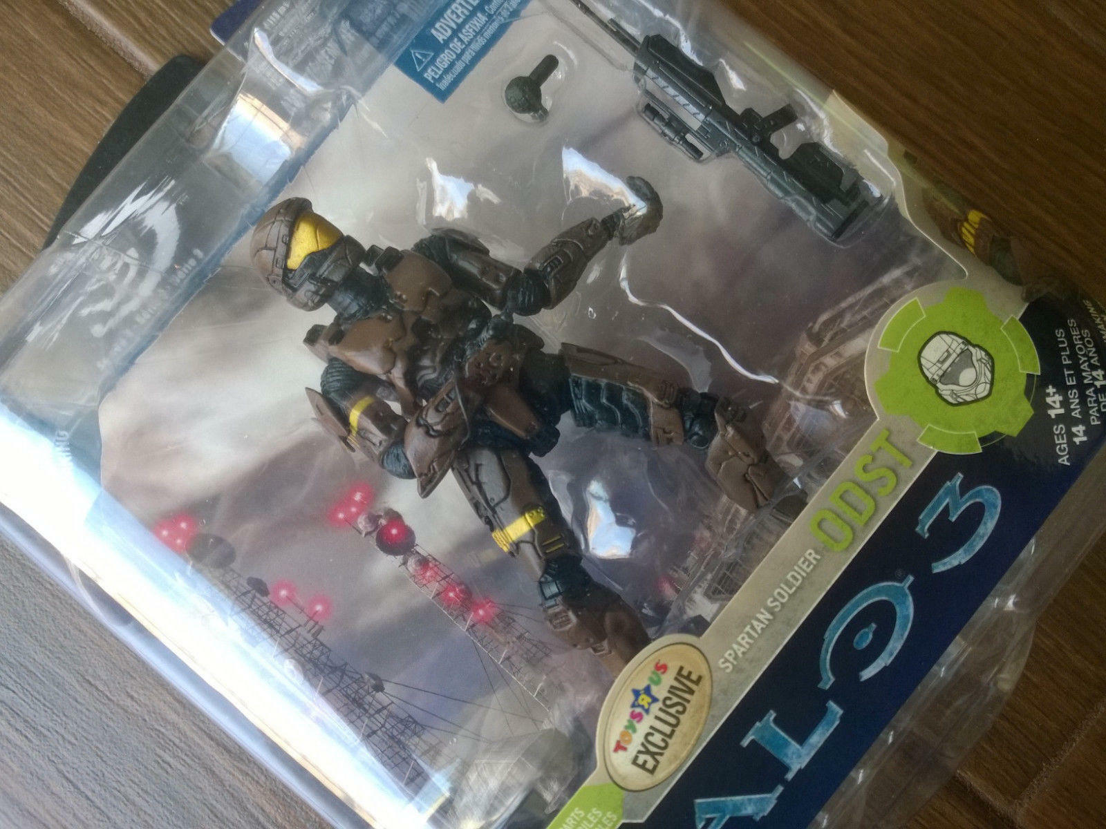 Toys R Us exclusive Halo 3 Series 3  braun ODST  Action Figure, Xbox toysRus NEW