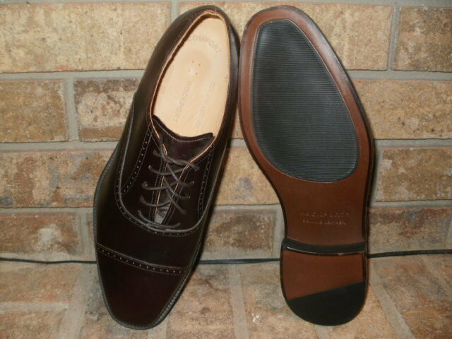 New Rockport Cordovan Leather Cap Toe Oxford 10 M    Kenetic Air Circ 6d46d0