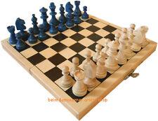 Blaue Schachfiguren KH 4,6 cm Figuren für Schach Schachspiel Holz Dame