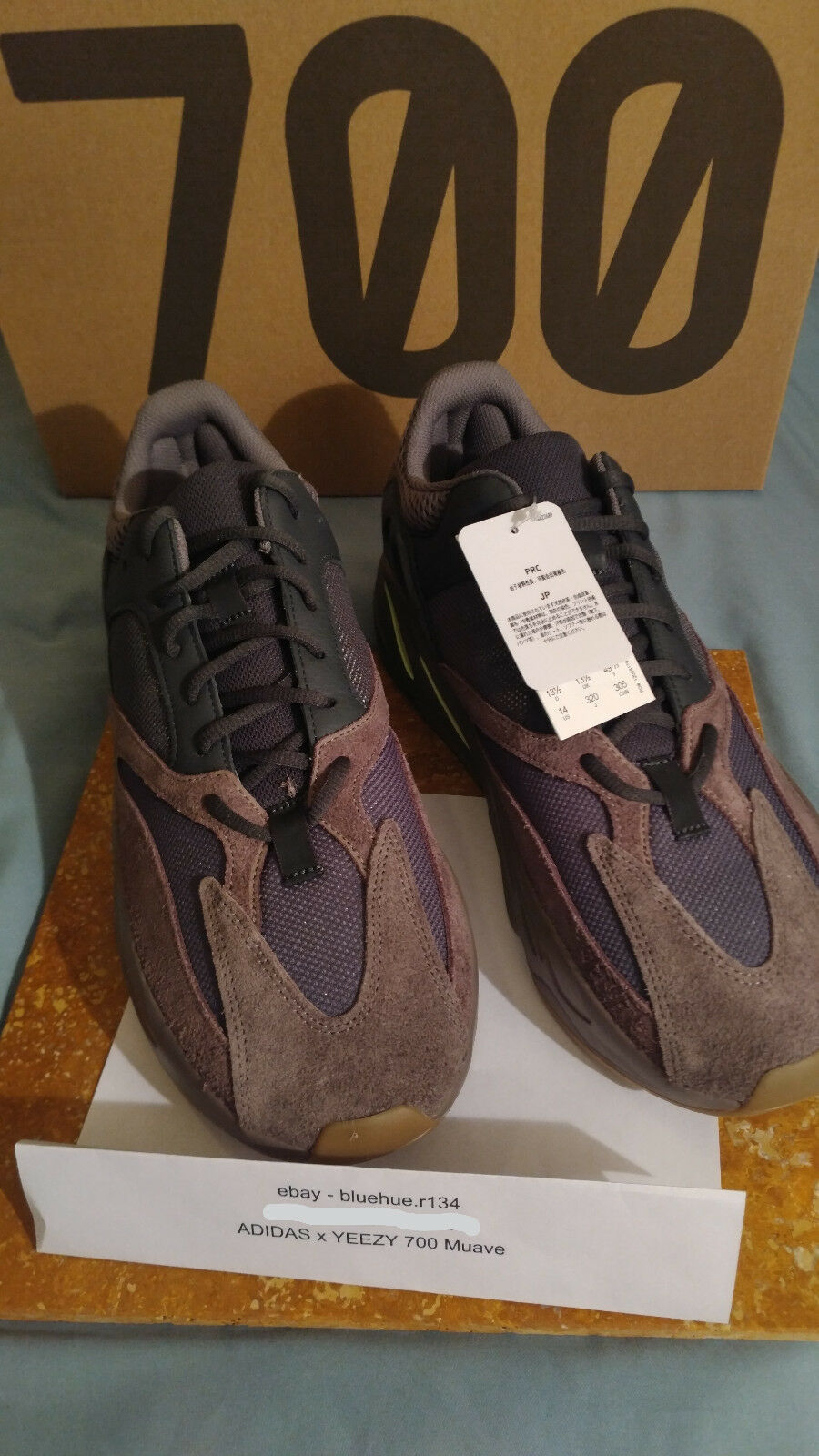 Adidas Yeezy Boost 700 Mauve Size 14 US Mens Item in Hand