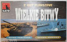 Wielkie Bitwy Gato War Board Game Navy Army Foreign Language 2 Gry Planszowe