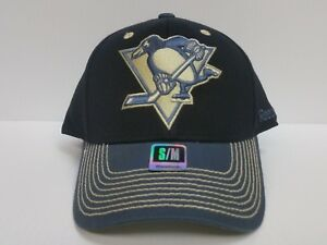 cd00e01846f Image is loading Pittsburgh-Penguins-Reebok-Black-Cap-Stretch-Fit-Fitted-