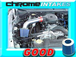 97-03 DODGE DAKOTA DURANGO 3.9 3.9L V6 5.2 5.2L 5.9L V8 AIR INTAKE Blue Red V2