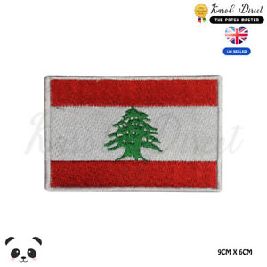 LEBANON National Flag Embroidered Iron On Sew On PatchBadge For Clothes etc