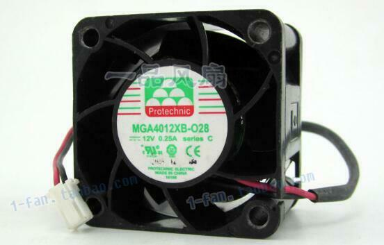 Original 4028 MGA4012XB-O28 12V 0 25A 40*40*28mm 4CM 2 wire cooling fan