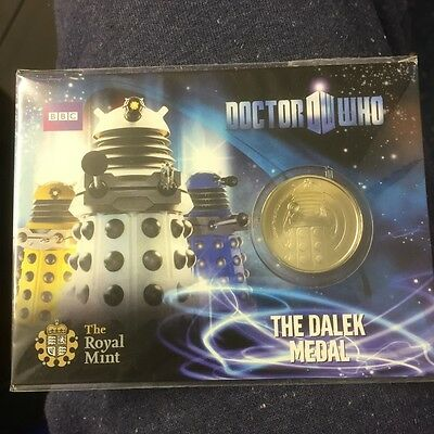 DR WHO  DALEK MEDALROYAL MINT  VERY COLLECTABLE.