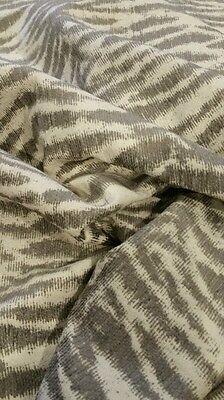 4 yd Gray White Zebra Print Fabric  Home Decor  Upholstery Drapery Home Decor