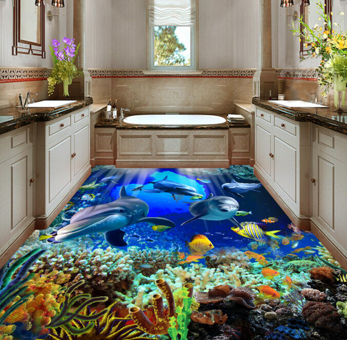 3D Marine seaweed 646 Floor WallPaper Murals Wall Print Decal 5D AJ WALLPAPER