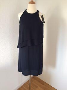 große Sammlung 100% Zufriedenheit reich und großartig Details zu Esprit blau Navy Gr 34 Kleid Hänger Chiffon Sommer 🌸 Lagen XS  NEU !!! NP 80