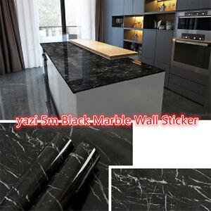 5m-Black-Marble-Wall-Sticker-Granite-Wallpaper-Self-Adhesive-Waterproof-Kitchen