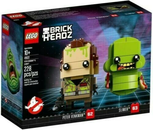 LEGO 41622 BRICKHEADZ PETER WENKMAN SLIMER GHOSTBUSTERS - SPEDITO DA ITALIA