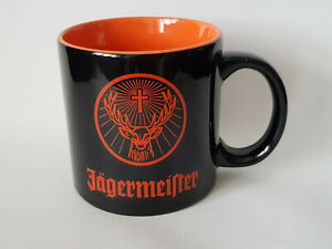 JAGERMEISTER-XL-BIG-Oversized-Mug-Collector-Cup-Black-Orange-EXCELLENT-CONDITION