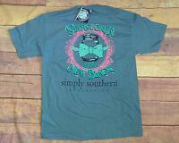 Simply Southern seersucker Women's Sz. Large T-shirt (older Design)