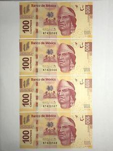 100-Mexican-Pesos-2017-Crisp-New-Uncirculated-Bank-Fresh-Mexico-P-124bc-MXN
