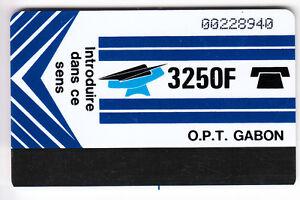 AFRIQUE TELECARTE - PHONECARD .. GABON 3250F AUTELCA R° TR. BAS V° BLANC SER.003 qmMozlIC-09163936-937964807