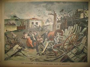 OCEANIE-ILES-TUAMOTOU-CYCLONE-LONDRES-OUVRIERS-JOURNAL-LE-PETIT-PARISIEN-1903