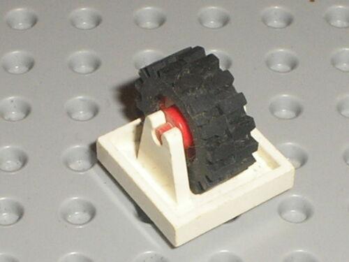 Essieu roue LEGO VINTAGE POLICE white wheel holder ref 8