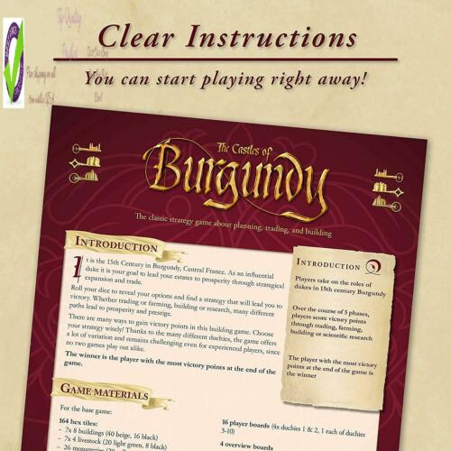 20Th Anniversary A Ravensburr Castles Of Burgundy Strategy Game For As 12  Up