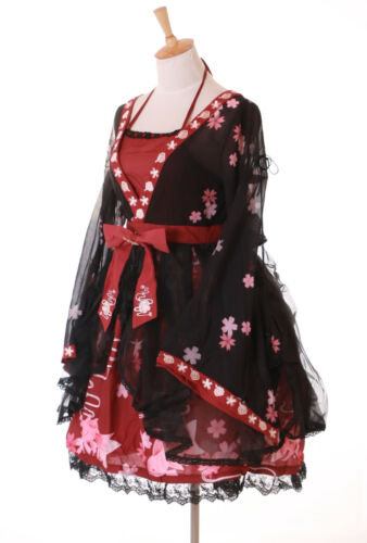 Lolita Cosplay Rot Japan Kleid 37 Kirschblüten Schwarz Sakura Jsk Goldfisch 2 vI6xqtw8