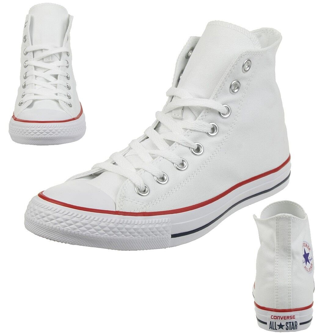 Converse C Taylor All Star HI Chuck Schuhe Sneaker canvas Optical White M7650C