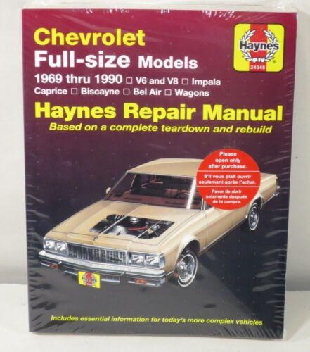 Repair Manual Haynes 24045 fits 69-90 Chevrolet Caprice