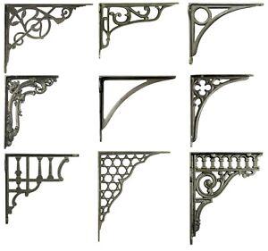 One-Cast-Iron-Shelf-Bracket-Metal-Antique-Victorian-Book-Shelves-Wall-Brackets