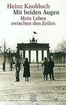 Mit beiden Augen von Knobloch, Heinz | Buch | Zustand gut