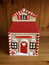 Marks and Spencer ~ Handpainted Ceramic Storage Jar ~ House/Candy Shop ~ VGC
