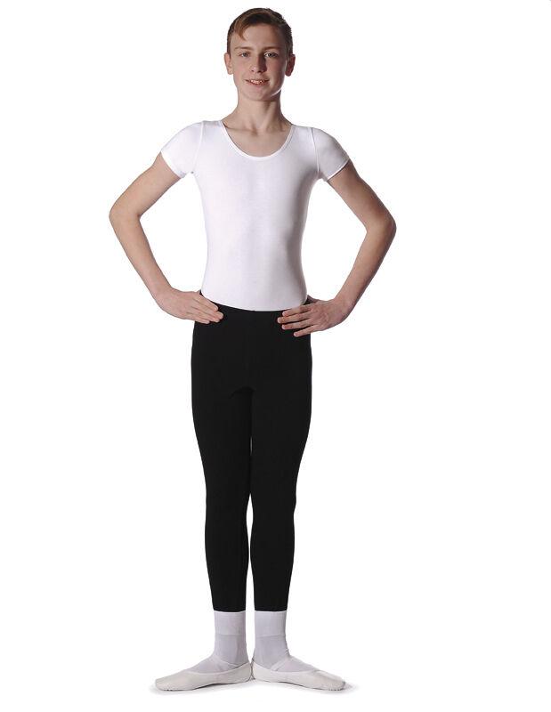 Roch Valley Adam Boys cotton/lycra leotard with short sleeves and scoop neck