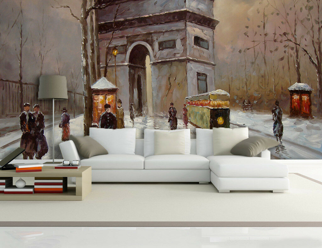 3D Building Street 84 Wallpaper Mural Paper Wall Print Wallpaper Murals UK Lemon