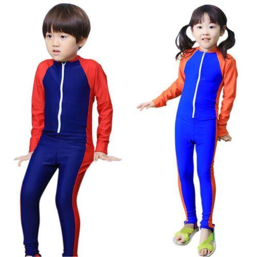 For Child Anti UV Full Body Swimwear Kids Long Sleeve Swimming Diving Wetsuit
