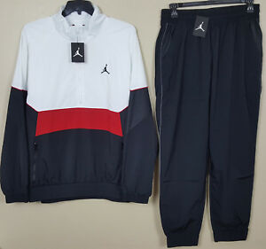 10a9a7c21031 NIKE AIR JORDAN RETRO 3 TRACK SUIT JACKET + PANTS WHITE RED BLACK ...